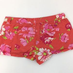 Aeropostale Womens pink Floral shorts 7/8